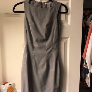H&M Gray Business Midi Dress Size 4
